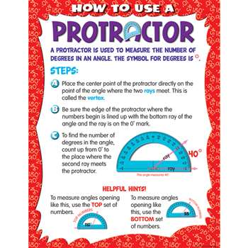 How To Use A Protrator Chart By Teacher Created Resources Math
