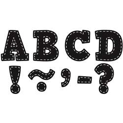 Black Stitch Bold Block 3 Magnetic Letters, TCR77309