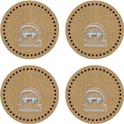 Clingy Thingies Clips Burlap, TCR77375