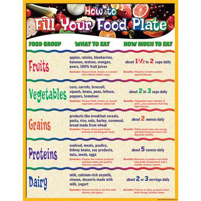 How To Fill Your Food Plate Chart By Teacher Created Resources