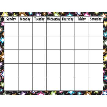 Fancy Stars Calendar Chart By Teacher Created Resources