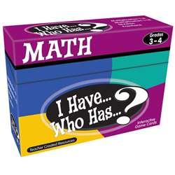 I Have Who Has Math Games Gr 3-4 By Teacher Created Resources