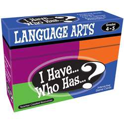 I Have Who Has Language Arts Gr 4-5 By Teacher Created Resources