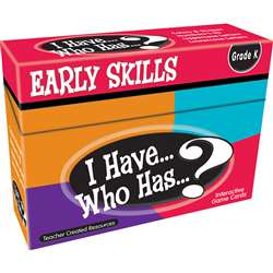 I Have Who Has Early Skills Game, TCR7860