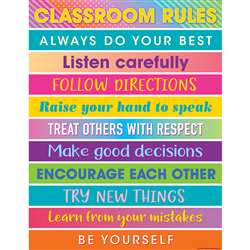 Colorful Vibes Rules Charts, TCR7937