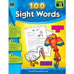 100 Sight Words Gr K-1, TCR8049