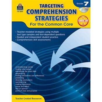 Gr 7 Targeting Comprehension Strategies For The Co, TCR8054