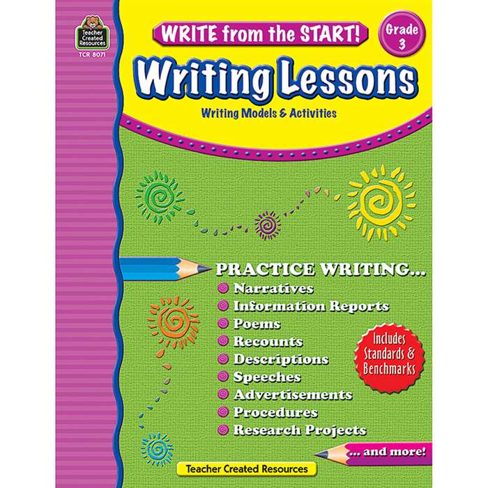 Write From The Start Gr 3 Writing Lesson By Teacher Created Resources