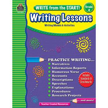 Write From The Start Gr 4 Writing Lesson By Teacher Created Resources