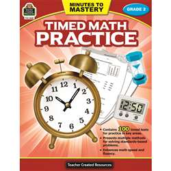 Minutes To Mastery Timed Math Gr 2 Practice, TCR8081