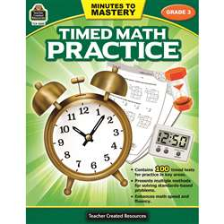 Minutes To Mastery Timed Math Gr 3 Practice, TCR8082