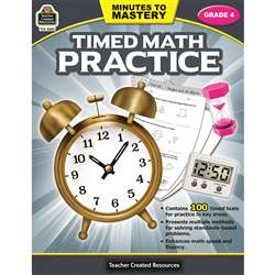 Minutes To Mastery Timed Math Gr 4 Practice, TCR8083