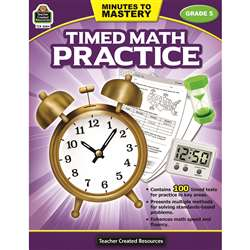 Minutes To Mastery Timed Math Gr 5 Practice, TCR8084