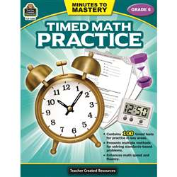 Minutes To Mastery Timed Math Gr 6 Practice, TCR8085