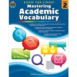 Know The Lingo Gr 2 Mastering Academic Vocabulary, TCR8132