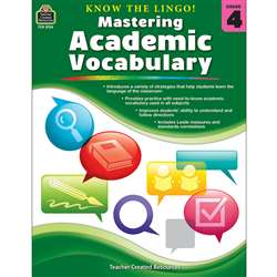 Know The Lingo Gr 4 Mastering Academic Vocabulary, TCR8134