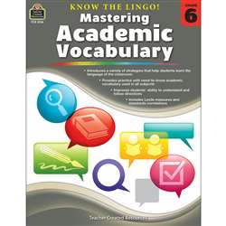 Know The Lingo Gr 6 Mastering Academic Vocabulary, TCR8136