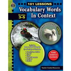 101 Lessons Vocabulary Words In Context Gr 3-5 By Teacher Created Resources