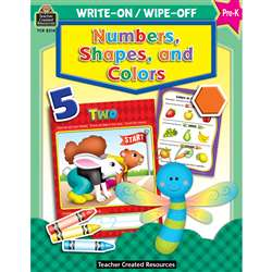 Write-On/Wipe-Off Numbers Shapes & Colors, TCR8214