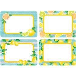 Lemon Zest Name Tags/Labels Multi Pack, TCR8483