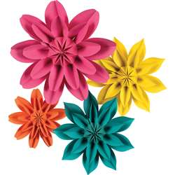 Beautiful Brights Paper Flowers, TCR8545