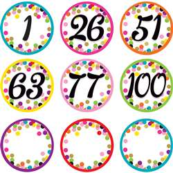Colorful Vibes Number Cards, TCR8752