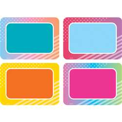 Colorful Vibes Name Tags/Labels, TCR8783