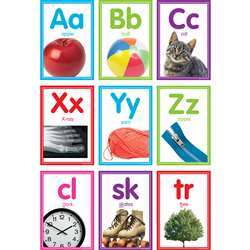 Colorful Photo Alphabet Cards Bulletin Board St, TCR8798