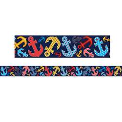 Anchors Straight Rolled Border Trim, TCR8954