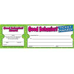 Good Behavior Ticket Awards By Teachers Friend