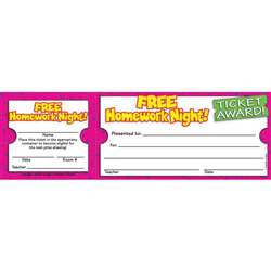 Free Homework Night Ticket Awards By Teachers Friend