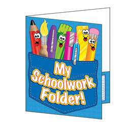 Pocket Folder My Schoolwork Folder 8-1/2 X 11 Plastic-Coated By Teachers Friend