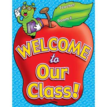 Chart Welcome To Our Class 17 X 22 Plastic-Coated By Teachers Friend