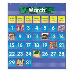 Monthly Calendar Pocket Chart Gr K-5 By Teachers Friend