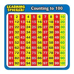 "Counting To 100 Learning Stickers 4""X 4"" 20 Ct By Teachers Friend"