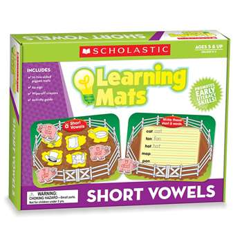 Short Vowels Mats By Teachers Friend