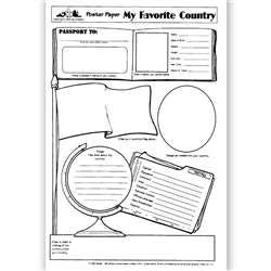 Poster Papers My Favorite 30/Pk Country 2-Sided 22 X 17 Gr 4 & Up By Teaching Learning