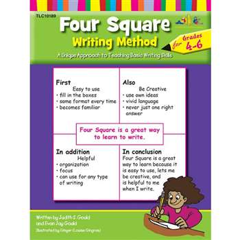 Four Square Writing Method Grade 4-6 By Teaching Learning