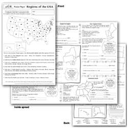 Regions Of The Usa Poster Paper By Teaching Learning