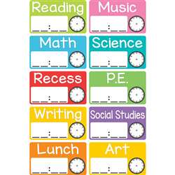 Magnetic Schedule Cards, TOP10448