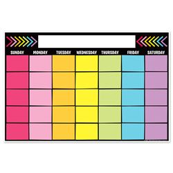 Magnetic W&W Calendar Neon Black 12X18, TOP10539