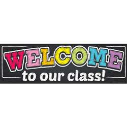 Magnetic Welcome Banner Neon Chalk, TOP10593