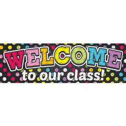 Magnetic Welcome Banner Neon Chalk Dots, TOP10594