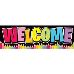 Magnetic Welcome Banner Neon Black, TOP10595