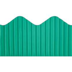 Corrugated Border Turquoise, TOP21017