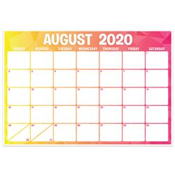 Geo Abstract Desk Calendar Academic Year, TOP3008