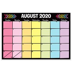 Neon Black Desk Calendar/Academic Year, TOP3032