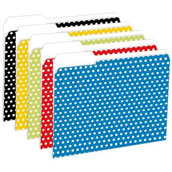 Designer File Folders Polka Dot By Top Notch Teacher Products