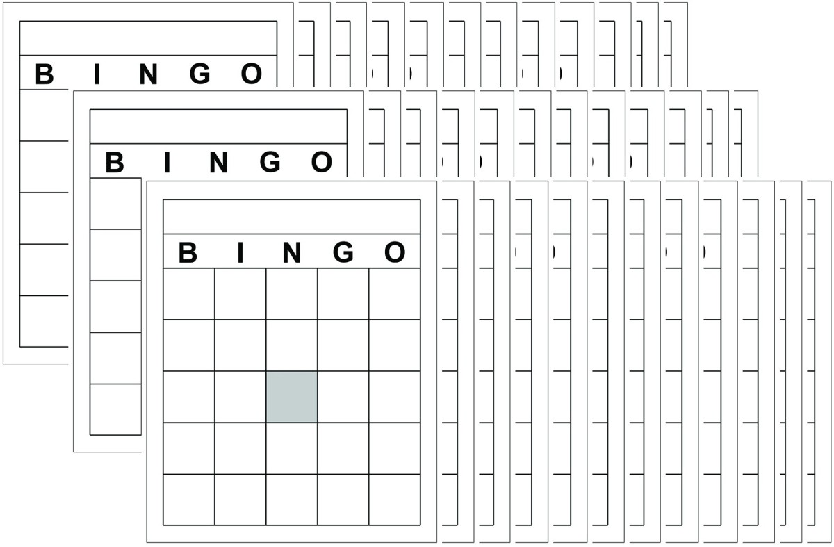 Blank bingo cards by top notch teacher products bingo for Volusion templates for sale