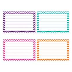 Shop Border Index Cards 4 X 6 Lined Chevron - Top3551 By Top Notch Teacher Products